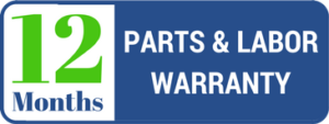 12 month parts and labor warranty